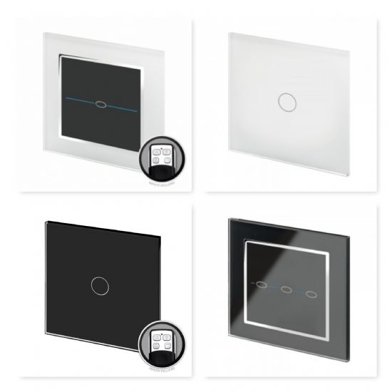 Crystal Remote & Touch Switches & Dimmer